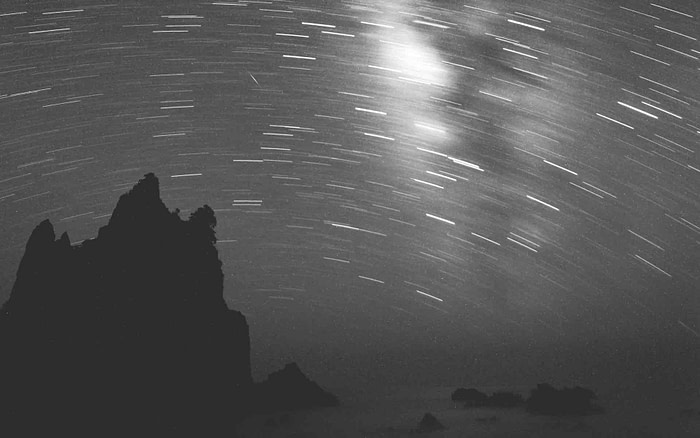 Étoiles au dessus de la mer pour illustrer un poème d'Edith Södergran.